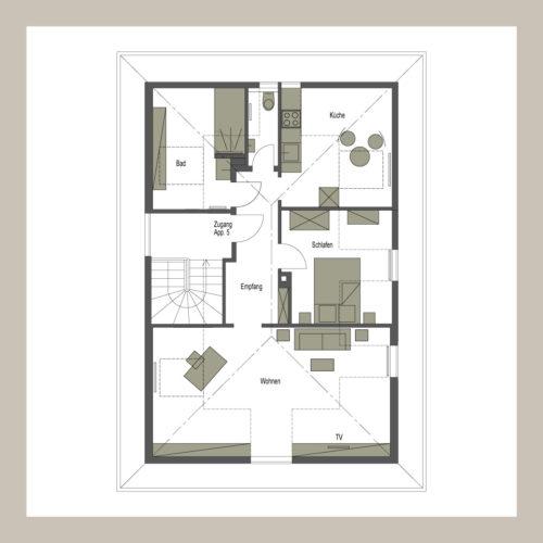 0711 Lodging |Loft-Style – 2-Zimmer Apartment mit offenem Dachgebälk